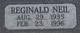 """Reginald Neil """" """" <I> </I> Acheson,"""