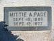 Profile photo:  Mittie A Page