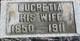 Lucretia <I>Thompson</I> Roath