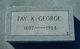 Profile photo:  Fay <I>Knox</I> George