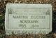 Martha <I>Eggert</I> Ackerman
