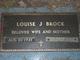 Louise <I>Jones</I> Brock