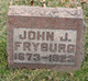 Profile photo:  John J. Fryburg