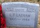 Profile photo:  Louis Tilton Latham, Sr
