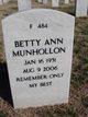 Profile photo:  Betty Ann <I>Compton</I> Munhollon