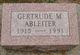 Profile photo:  Gertrude Marie <I>Gange</I> Ableiter