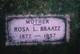Rose Wilhelmina Louise <I>Schmidt</I> Braatz