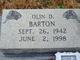Olin D. Barton