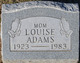 Profile photo:  Louise Adams