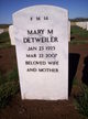 Mary Marcella <I>Holmes</I> Detweiler