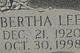 Bertha Lee <I>Griffis</I> Sinclair