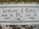 Lurline <I>Johnson</I> Cole