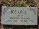 "Profile photo:  Joseph Theodore ""Joe"" Lane"