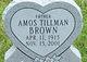 Profile photo:  Amos Tillman  Brown
