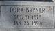 Profile photo:  Annie Dora <I>McIntire</I> Bryner