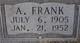 "Profile photo:  Artie Franklin ""Frank"" Brazeal"
