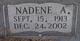 Profile photo:  Bertha Nadene <I>AKINS</I> Brazeal