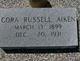 Profile photo:  Cora Lee <I>Russell</I> Aiken