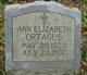 Profile photo:  Ann Elizabeth Ortagus
