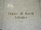 Sophie M <I>Schroder</I> Kurth