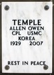 Profile photo: Corp Allen Owen Temple