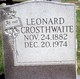 Profile photo:  Leonard Crosthwaite