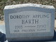 Profile photo:  Dorothy Oretha <I>Brooks</I> Appling Barth