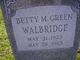 Profile photo:  Betty M <I>Green</I> Walbridge