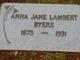Profile photo:  Anna Jane <I>Lambert</I> Byers