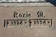 Roxie Mae <I>Beadle</I> Parkhurst