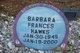 Barbara Frances Hawks