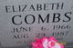 Elizabeth <I>Mcmillian</I> Combs