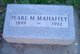 Pearl M Mahaffey