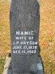 """Mary Caroline """"Mamie"""" <I>Lee</I> Bryson"""
