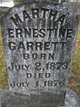 Martha Ernestine Garrett