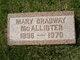 Mary McAllister <I>Bradway</I> Guenthoer