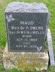 Profile photo:  Maud <I>Wells</I> Owens