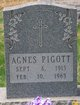 Profile photo:  Agnes Pigott