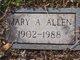Profile photo:  Mary A. Allen