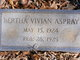 Profile photo:  Bertha Vivian Aspray