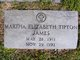 Martha Elizabeth <I>Tipton</I> James