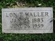 "Alonzo Thomas ""Lon"" Waller"
