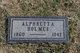 Profile photo:  Alphretta <I>Mack</I> Holmes