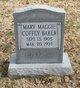 Mary Maggie <I>Coffey</I> Baker