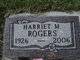 "Harriet ""Tootie"" <I>Crabtree</I> Rogers"