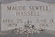 Maude Sewell <I>Lively</I> Hassell