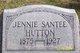 Profile photo:  Jennie <I>Santee</I> Hutton