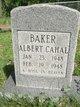 Profile photo:  Albert Cahal Baker