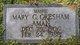 Profile photo:  Mary C <I>Gresham</I> Aman