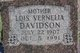 Lois Vernelia <I>Wheat</I> Davidson